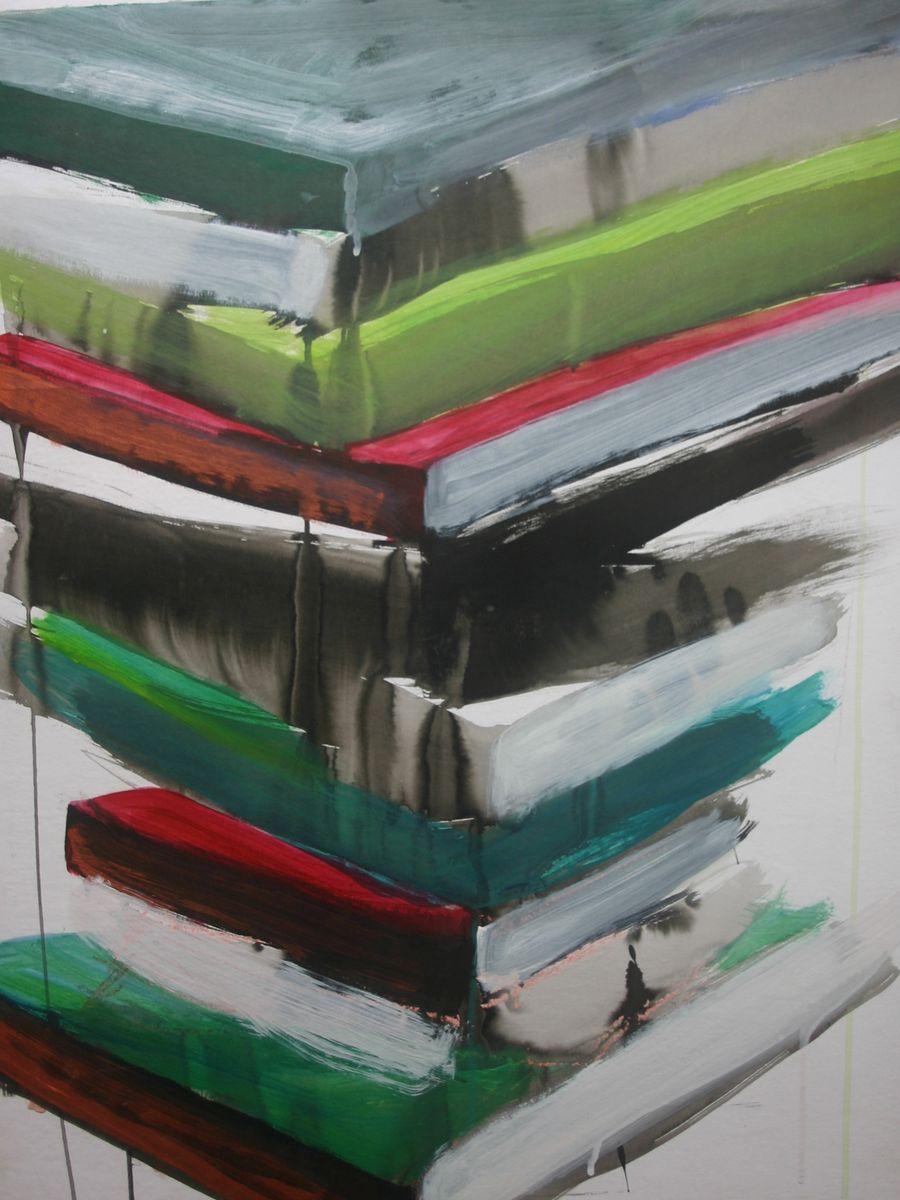 2010 acrylique sur papier marouflee sur bois