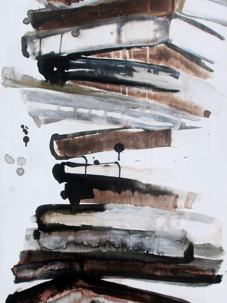 2011, 140 X 53, acrylique et encre sur bois