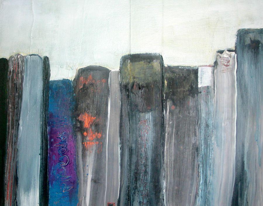 2012, 30 X 18, acrylique et encre sur bois