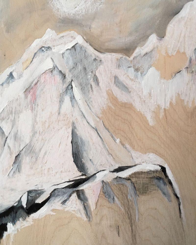 2016, Roches, .40 X 30 cm, pastel et graphite sur bois jpg